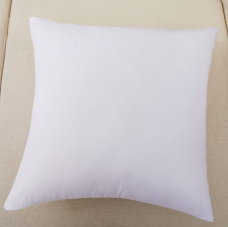 Square White Peached Fabric Cushion Insert Decorative Pillows PP cotton filling 450g for 45x45cm