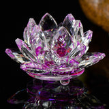 Feng shui Quartz Crystal Lotus Flower
