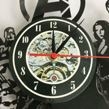 Alice in Wonderland Wall Clock Modern Design Vinyl Record