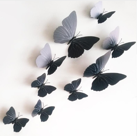 12pcs Creative Butterfly Decor Wall Stickers