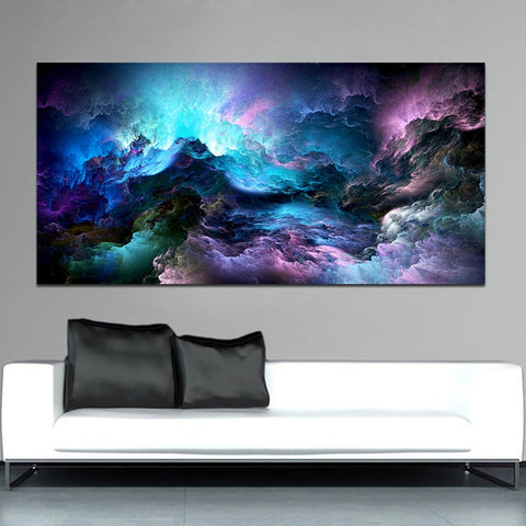 Cloud Abstract Colorful Oil Painting