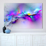Abstract Unreal Pink Nebula Canvas