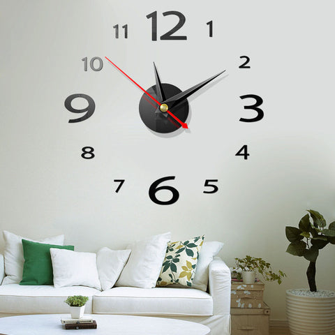 3D Wall Clock Vinyl Decal