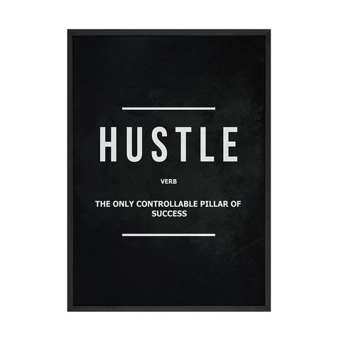 Grind Hustle Execution Canvas Prints Motivational Modern Art