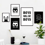 Boys Will Be Boys Canvas Painting