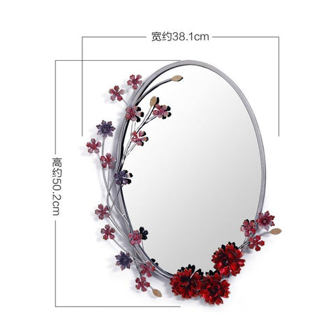 Rural Style Iron Art Hanging mirror