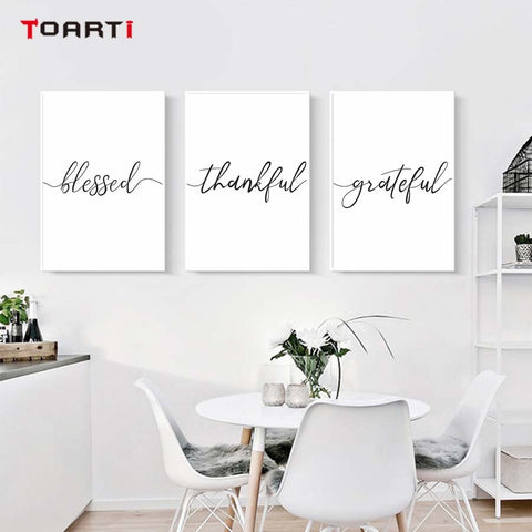 Blessed Thankful Grateful Canvas