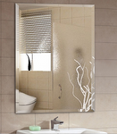 Frameless wall hanging mirror European style