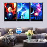 3 Pieces / Pcs Rick and Morty Stars Canvas
