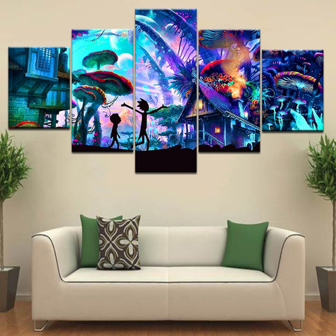 Rick and Morty Mushroom World Canvas Set