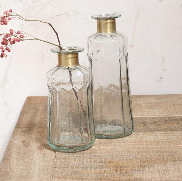 Clair Decorative Glass Bottle - Large