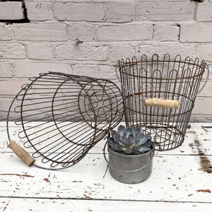 Vintage Factory Baskets