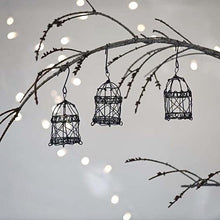 Load image into Gallery viewer, Wire Bird Cage Decoration