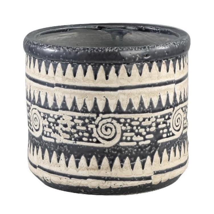 Scarlett Black Glazed Ceramic Pot - XL