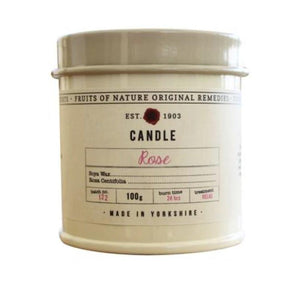 Fruits of Nature Candle Small - ROSE 100g