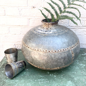 Recycled Iron Belly Pots