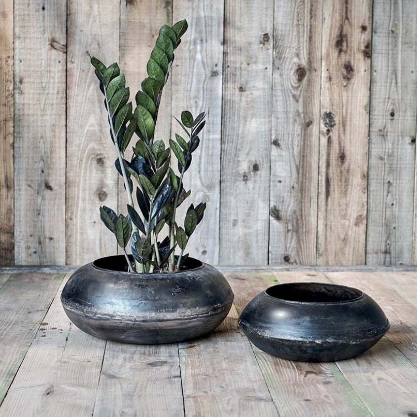 Mendo Reclaimed Iron Round Planter - Large