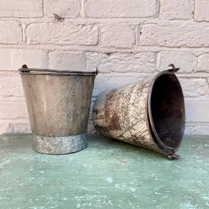 Recycled Iron Buckets - Large
