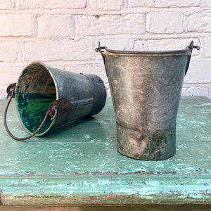 Recycled Iron Buckets - Small