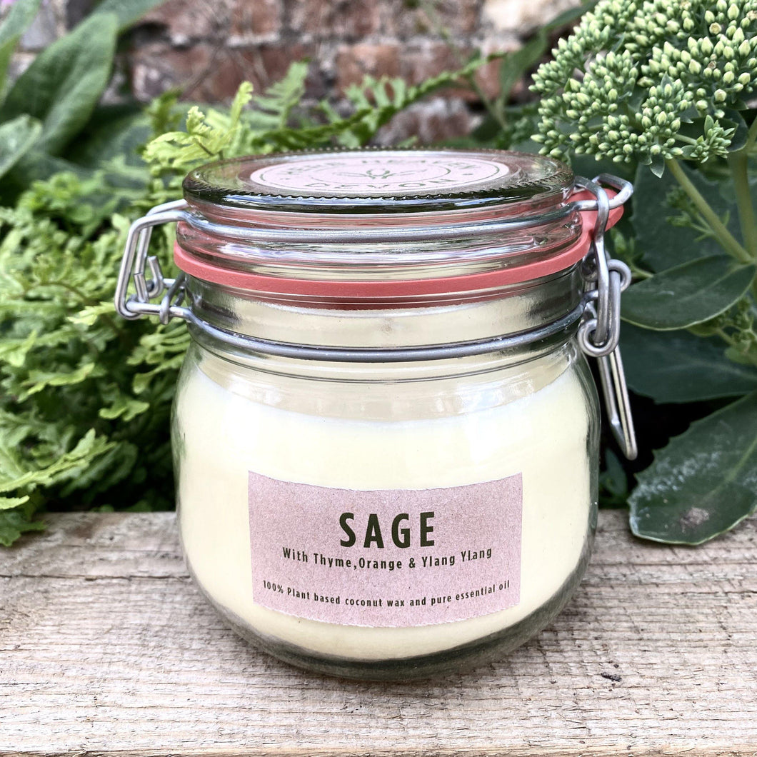 Herbal Candle - Sage & Thyme 500ml