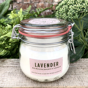 Organic Herbal Candle - Lavender & Marjoram 500ml