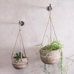 Affata Clay Hanging Planter - Small