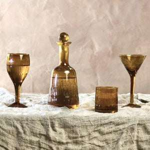 Manilla Glass Decanter - Burnt Amber