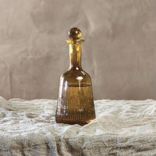 Load image into Gallery viewer, Manilla Glass Decanter - Burnt Amber