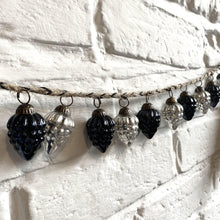 Load image into Gallery viewer, 25% OFF - Narnia Bauble Garland - Antiqued Silver & Black