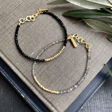 Load image into Gallery viewer, Labradorite & Gold Beaded Bracelet