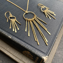 Load image into Gallery viewer, Kiya Artisan Gold Earrings