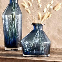 Load image into Gallery viewer, Izan Indigo Glass Vase - Small