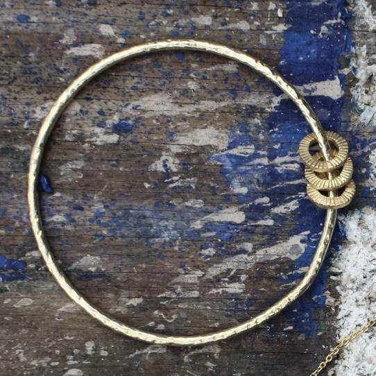 Layla Artisan Gold Bangle