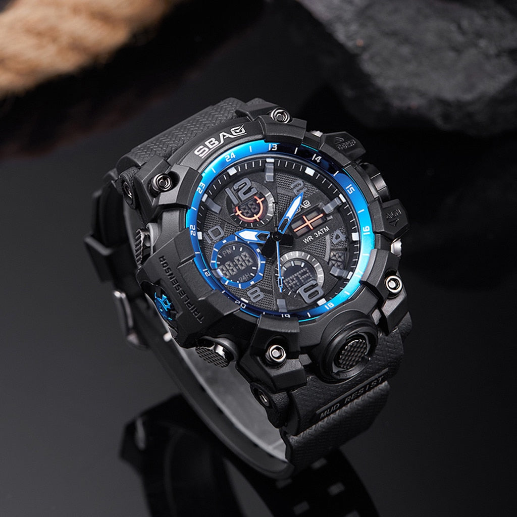SBAQ WEAR : Digital Military Watch