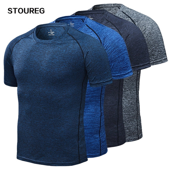 Men's Running T-Shirts, Quick Dry Compression Sport T-Shirts,