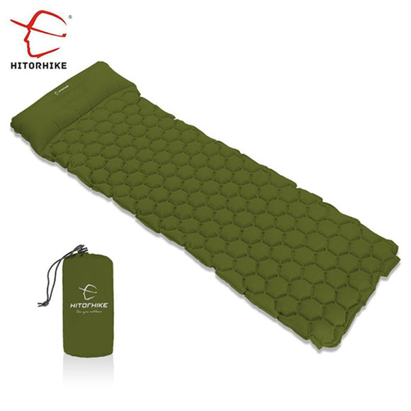 Hitorhike Topselling Inflatable Sleeping Pad Camping Mat With Pillow