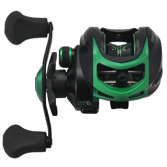 19 + 1 BB 9.1:1 Gear Ratio Waterproof Left / Right Hand Baitcasting Fishing Reel