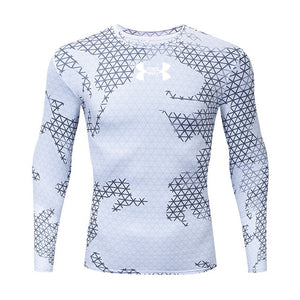 3D Quick Dry Rashgard Running Shirt Men Long Sleeve