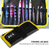 2 Color Fishing Jig Bag Sea Waterproof PVC Fishing Jig Lure Tackle Gear Tools Pockets Bags Fishing Tackle Accessory 31x22cm