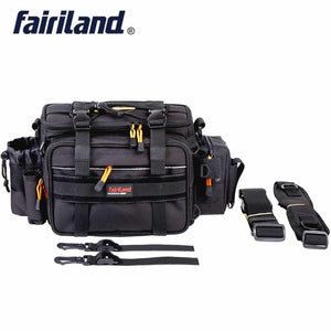 Fairiland Large-size Manly 3-Color Fish Bag Multifunctional Shoulder Waist Fishing Gear Lure Bait Reel fishing tackle bag