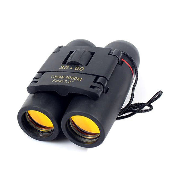 30x60 Compact Zoom Binoculars Long Range Folding HD Powerful Mini Telescope