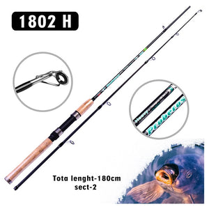PRO BEROS Fishing Rod 1PC Fishing Rod 1.8m/2.1m 40T High Carbon Lure Rod
