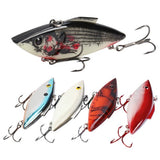 RUNCL Lipless Crankbaits, Rattle Trap Lures with Mustad Treble Hooks,