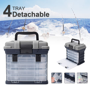 Bobing 270x170x260mm 4 Layers Fishing Tackle Box
