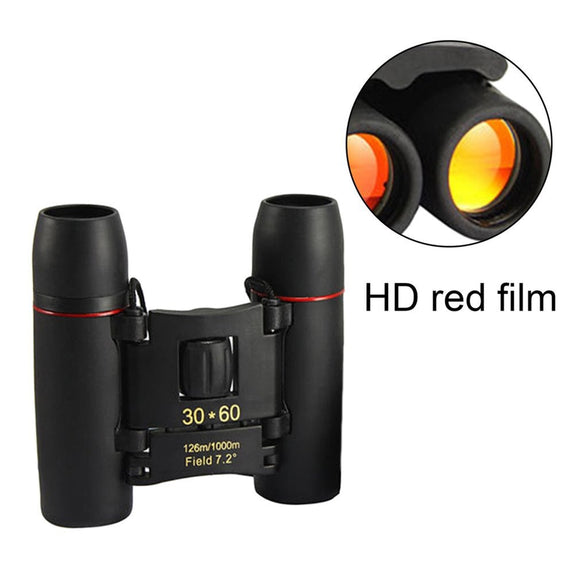 30x60 Mini Zoom Outdoor Binoculars Folding Day And Night Vision