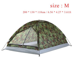 1.2KG TOMSHOO 2 Person Tent Ultralight Single Layer Water Resistance
