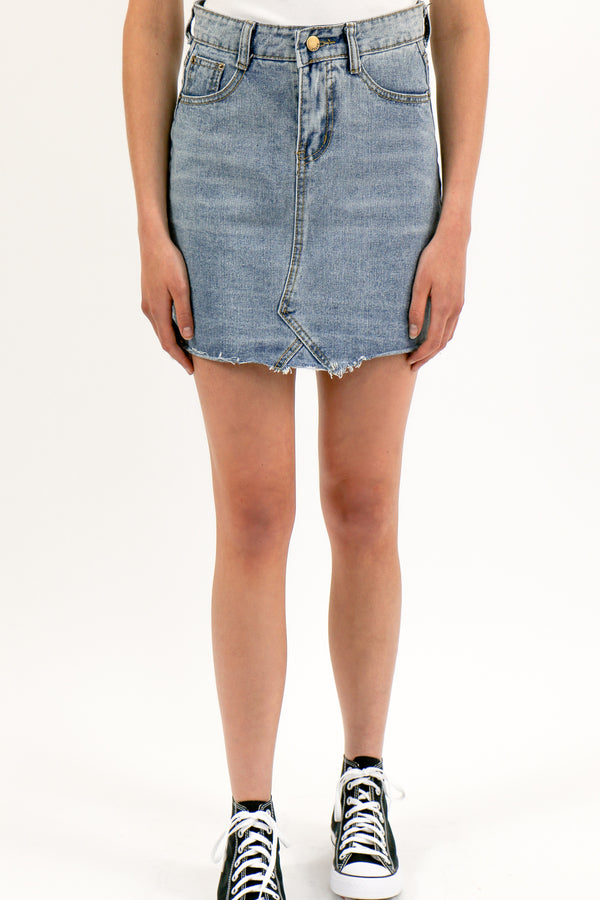 Girlfriend denim rok