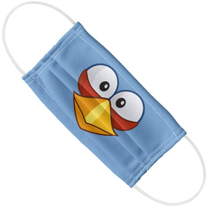 Angry Birds Blue Face Adult Flat View