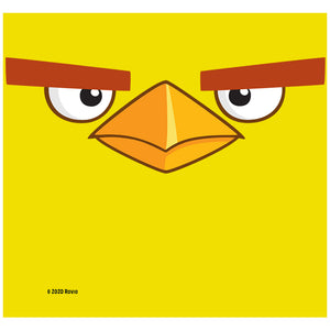 Angry Birds Chuck Face Adult Mask Design Full View
