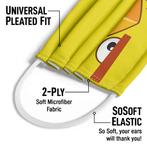 Angry Birds Chuck Face Kids Universal Pleated Fit, 2-Ply, SoSoft Elastic Earloops